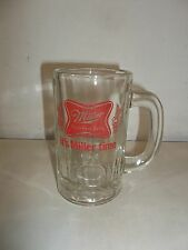 MILLER HIGH LIFE BEER VINTAGE COLLECTIBLE HANDLED SHORTY SMALL MUG STEIN GLASS