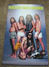 FAITH NO MORE From out of Nowhere 1989 Underwear Mike Bordin Patton Poster VGEX