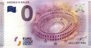 13 ARLES Arènes, 2015, Billet 0 Euro Souvenir
