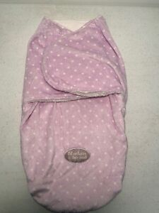 Blankets and Beyond Purple w/ White Poke A Dots. Swaddle Bag Baby Lovey