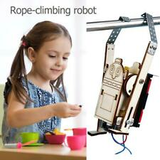Robot Rope Climbing Model Experiments Kit Kids Child DIY Science Discovery Toy