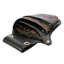 Fashion Brown Hair Scissor Holster Hairdressing Bag Pouch Holder E7J4