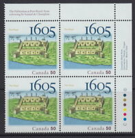 CANADA #2115 50¢ Port-Royal Settlement UR Inscription Block MNH
