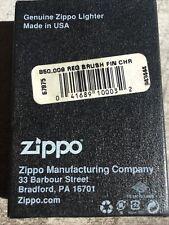 Zippo Briquet Basique - Brush Chrome .