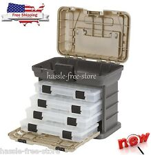 Fishing Tackle Storage Box Tool Organizer Lures Bait 4 Tray Tools System Plano