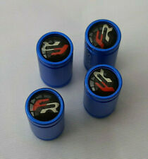 FR Valve caps Dust caps for  Cupra,Ibiza,Leon in Blue android finished