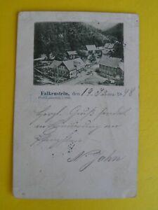 Vorläufer? 1898 Alte AK Falkenstein Post- Lauenstein Obfr.