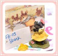 ❤️Wee Forest Folk FB-03 Skunk Flower Babies Retired Yellow Dress Baby FB-3❤️