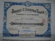 Tramways Electriques Biarritz St. Sebastian - Tolosa  1910   Spain Spanien