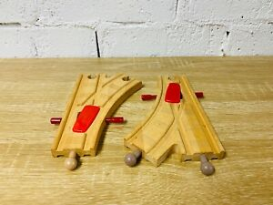 Switchable Adjust Long Switch Track x2 - Thomas & Friends Wooden Railway Trains