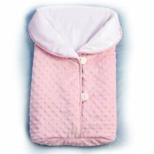 Ashton Drake Reversible Pink Fleece Bunting Baby Doll Accessory w/Buttons
