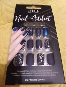 Ardell Nail Addict Premium Artificial Nail Set - Matte Blue 💅🏾