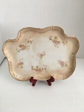 New listing Vintage Vanity Hand Painted Gilted Floral Dresser Tray