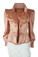YVES SAINT LAURENT Rive Gauche Tom Ford 2004 Oyster Silk Jacket (44)