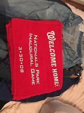 Washington Nationals Rally Towel Inaugural Game 3/30/08
