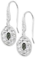 Hook Oval Sterling Silver Fine Earrings