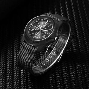Men ARMY Watch Military Male Quartz Watches Fabric Canvas Strap Casual Cool Mens