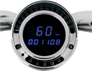 Dakota Digital Direct Plug in Blue LED Speedometer Speedo for Big Dog Motorcycle