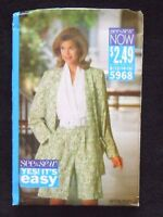 Butterick See & Sew 5968 Misses' Unlined Jacket & Jumpsuit Size B 12-14-16 - New