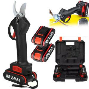 Garden Electric Cordless Pruning Shears Scissor Cutter Pruner W/ 2 Battery