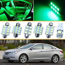 6PCS Bulbs Green LED Interior Lights Package kit Fit 1998-2011 Ford Ranger J1