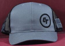Crimson Trace Hat Baseball Style Cap Grey Black American flag New