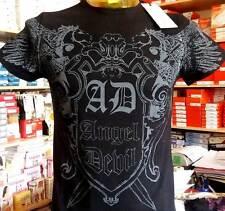 T-shirt Maglia Uomo Angel Devil Manica corta con Stampa Logo Art 14010016 Bianco XL