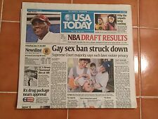 2003 NBA Draft USA Today Newspaper Lebron James Cavaliers Dwayne Wade