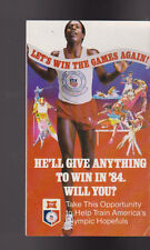 1984 Olympics Miller Beer Brochure He'll Give Anything to Win in 84 Will You