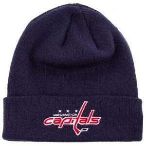 Washington Capitals NHL '47 Navy Blue Raised Cuff Knit Hat Cap Adult Beanie