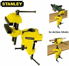 NEW Stanley 75mm Multi-Angle Swivel Hobby Craft Bench Wood Vice Clamp 183069