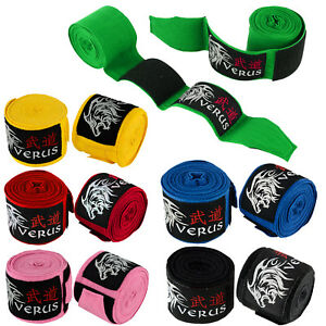"VERUS Hand Wraps 180"" Non Slip Boxing Fist Bandage Inner Gloves MMA Muay Thai"