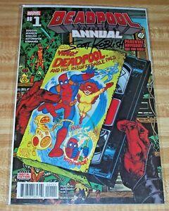 Deadpool Annual #1! (2016) Signed by Artist Scott Koblish! NM! COA!