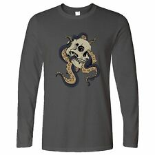 Creepy Art Long Sleeve Skull And Octopus Graphic Metal Goth Scary Cool Metal