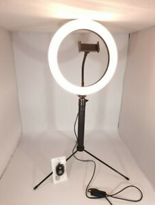 10'' Makeup Ring Light with Tripod Stand and Phone Holder, Portable Desktop Led