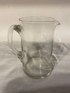 Vintage Old Elegant  Glass Jug Air Bubbles 25/D