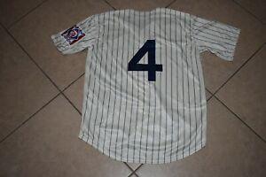 New!! Lou Gehrig  New York Yankees Cream Pinstripe Baseball Jersey Adult XXL