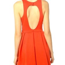 Urban Outfitters Cooperative Orange Stretch Jersey Fit-N-Flare Dress Small $69