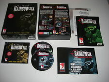 Tom Clancy's Rainbow Six gold pack edition PC CD ROM Inc Eagle Reloj Caja Grande