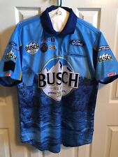 2019 KEVIN HARVICK BUSCH Beer Nascar Race Used Pit Crew Shirt M