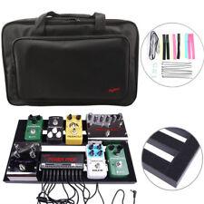"18.5"" x 10.6"" 47x27cm Guitar Pedal Board Aluminium Pedalboard + Padded Bag Case"