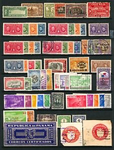 Panama 1904-1961 Assorted Back of Book Issues Mint & Used