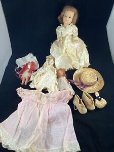 Vintage Dolls & Doll Clothes Lot Estate Sale Finds See Pictures