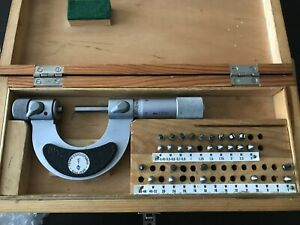 Suhl Screw Thread Pitch Micrometer 0-25mm Gewindemikrometer with pitch inserts