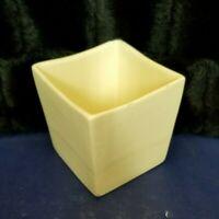 """Vintage MCM Haeger Pottery Matte White Square Succulent Planter #3716~ 4.25"""""""