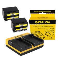 2x Batteria Patona + caricabatteria USB dual per Sony DCR-PC9,DCR-PC9E,DCR-TRV10