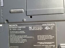 SONY VAIO NOTEBOOK PCG-FXA32 MODEL PCG-974L