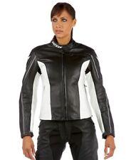 % Sale% Dainese Femmes Veste en cuir G. SF Pelle Taille 48 Blanc Avec Noir
