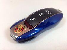 Porsche Painted Key Cap Set AQUA BLUE OEM 911 Boxster Cayman Panamera Cayenne