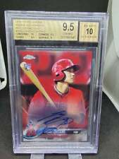 2018 TOPPS CHROME SHOHEI OHTANI RED REFRACTOR AUTO ROOKIE #D 4/5 BGS 9.5 / 10